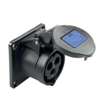 PCE Midnight Series Straight Flush Mounting Panel Socket 16A