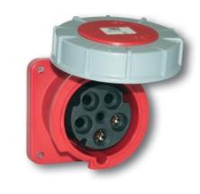 PCE Straight Flush Mounting Panel Socket 125A